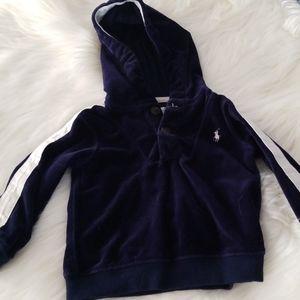 Ralph Lauren velour hooded pullover